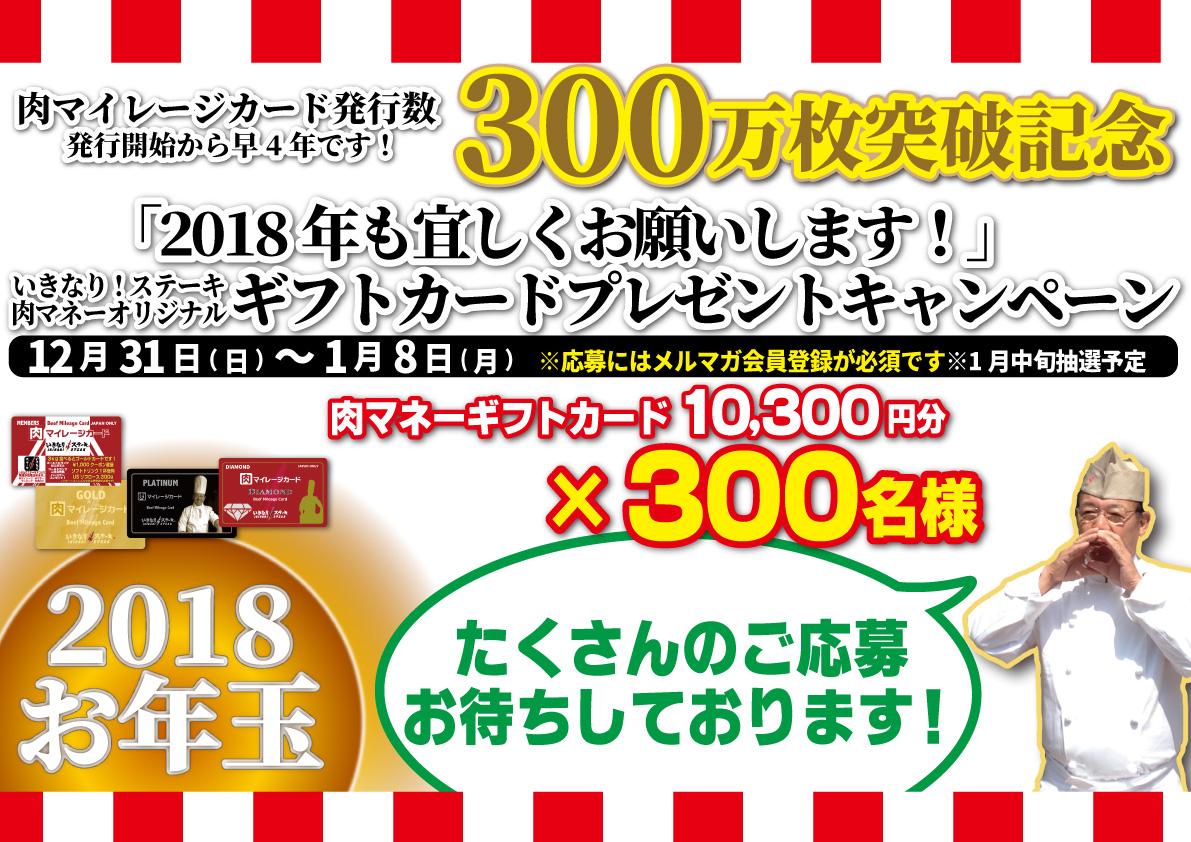 2018 New Year's presents campaign